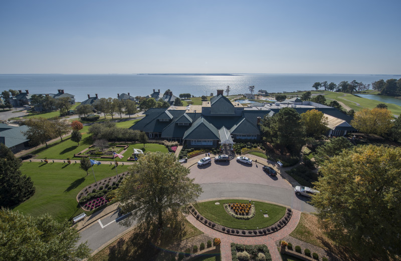 Aerial view of Kingsmill Resort.