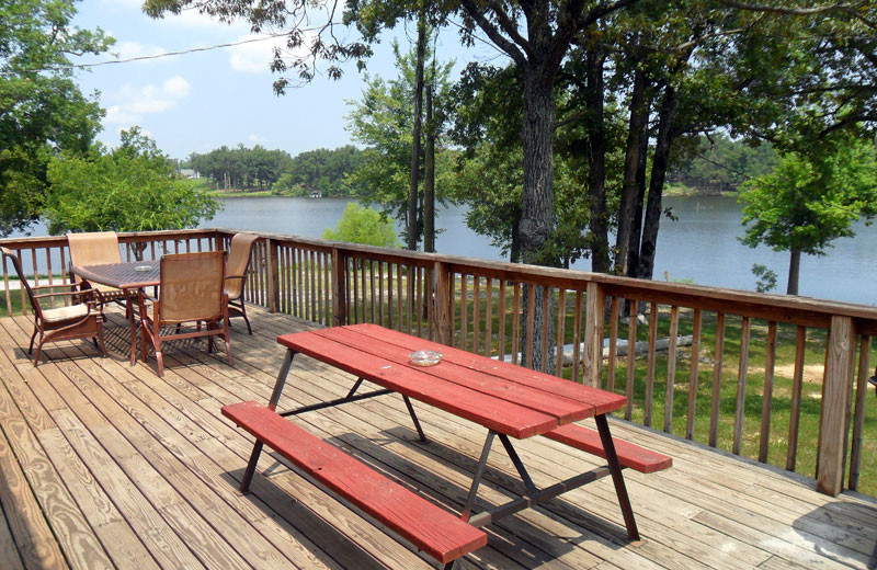 Cottage deck at King Creek Resort & Marina.