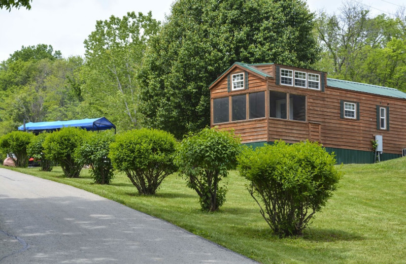 Cabin exterior at Basswood Country Resort.