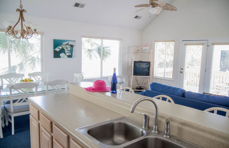 Guest kitchen at The Winds Resort Beach Club.