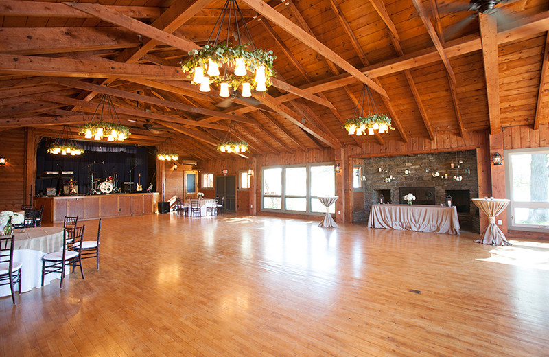 Wedding reception at Sojourn Lakeside Resort.