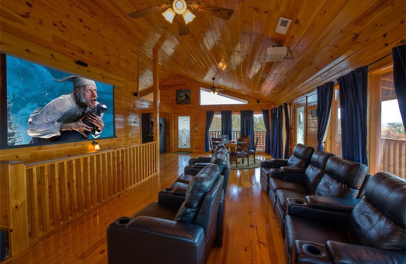 Cabin theater at The Cabin Rental Store.