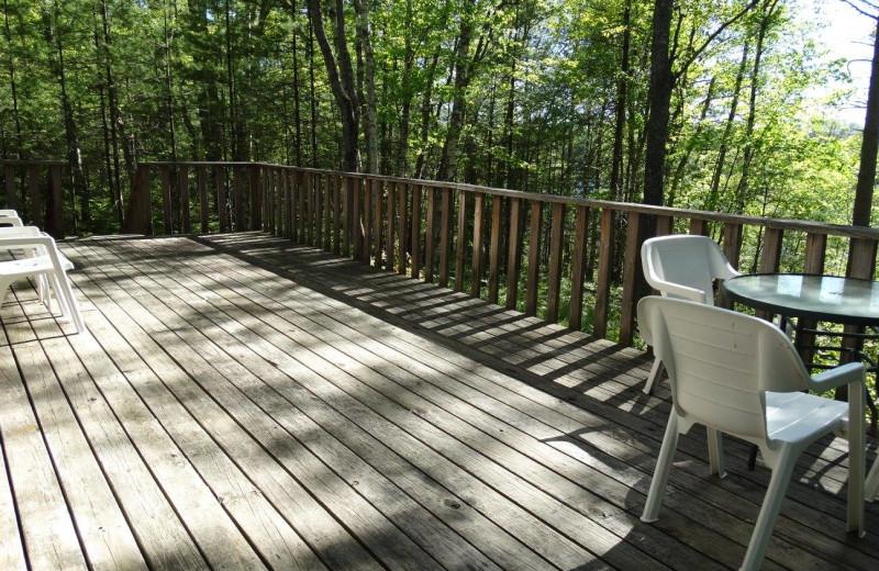 Deck at Buckhorn Resort.