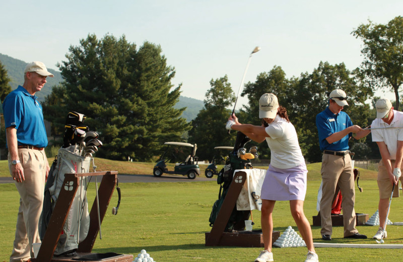 Golf lessons at Wintergreen Resort.
