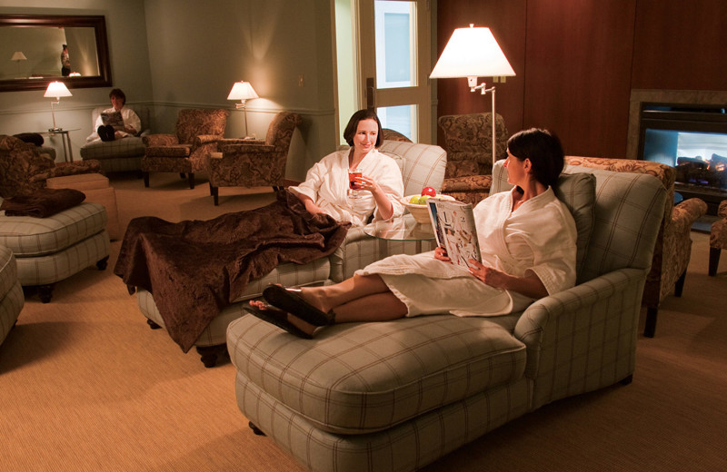 Spa lounge at Cranwell Spa & Golf Resort.