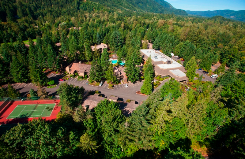 Aerial view of The Resort at the Mountain.