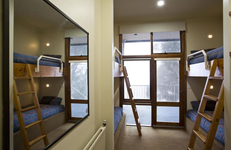 Guest room at Alpha Ski Lodge.