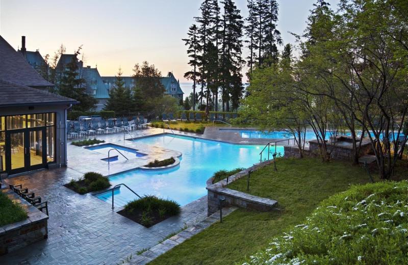 Pool at Fairmont Le Manoir Richelieu.