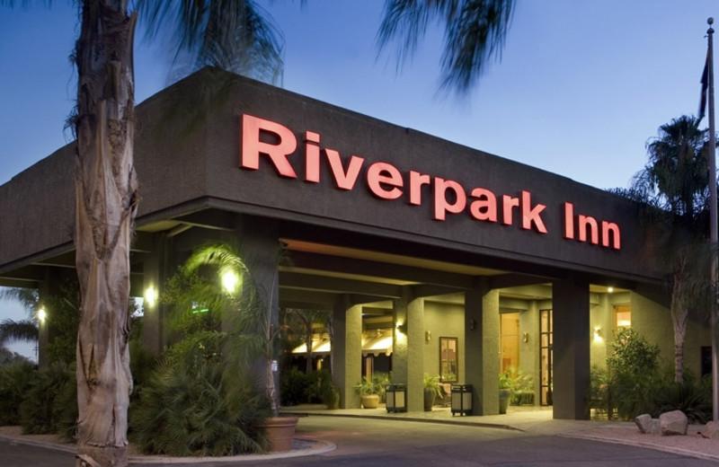 Exterior view of Riverpark Inn.