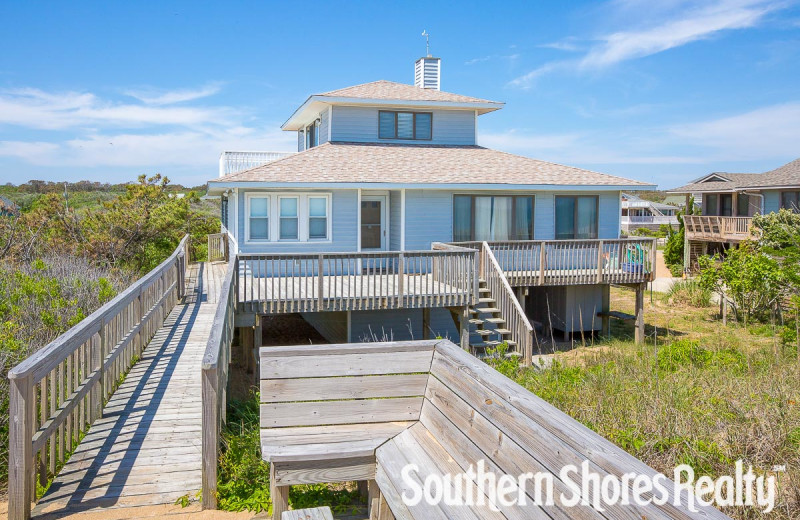 Rental exterior at Southern Shores Realty.