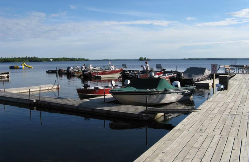 Dock at Herseth's Tomahawk Resort.