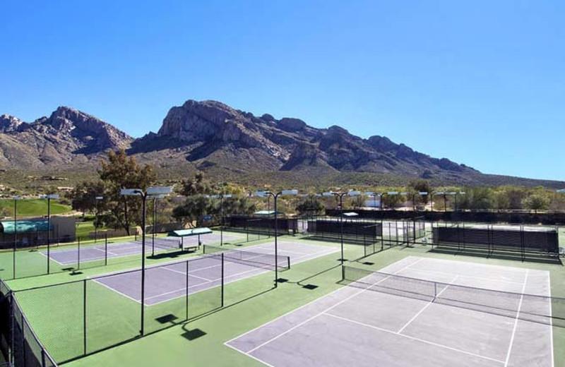 Tennis courts at Hilton Tucson El Conquistador Golf & Tennis Resort.