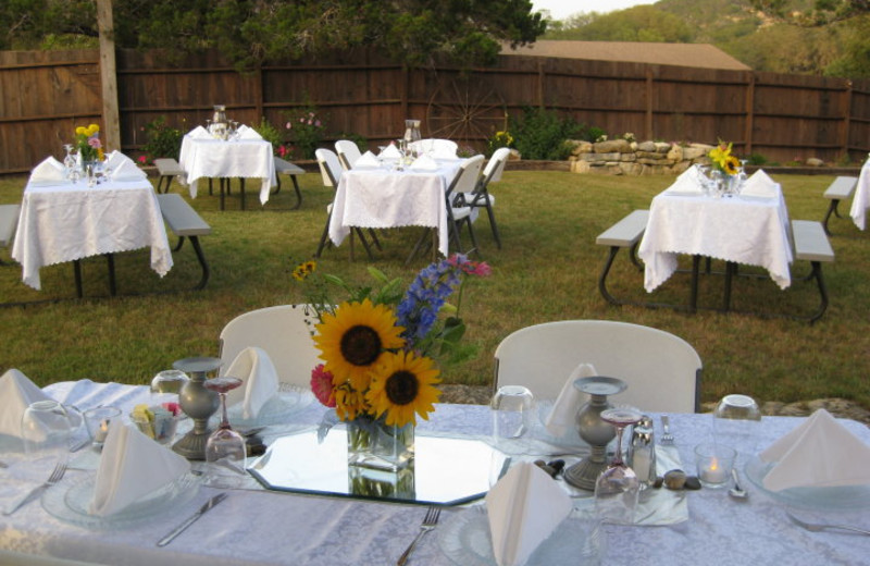 Wedding reception at Silver Spur Guest Ranch.