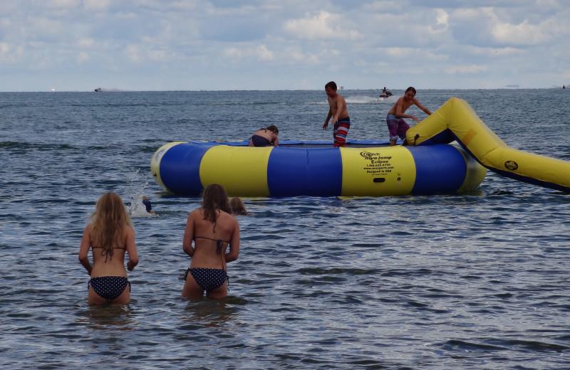 Water activities at The Beach Haus Resort.