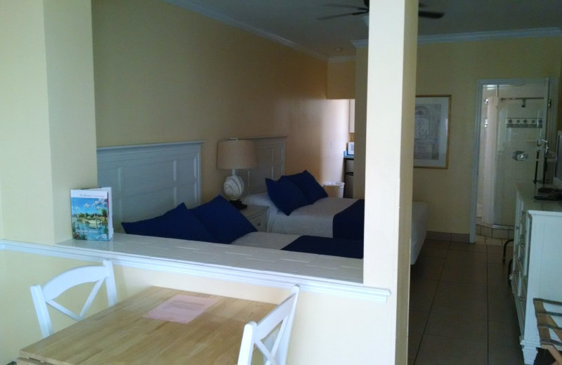 Guest room at Coral Sands Oceanfront Resort.