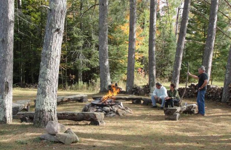 Campfire at Boulder Lodge.