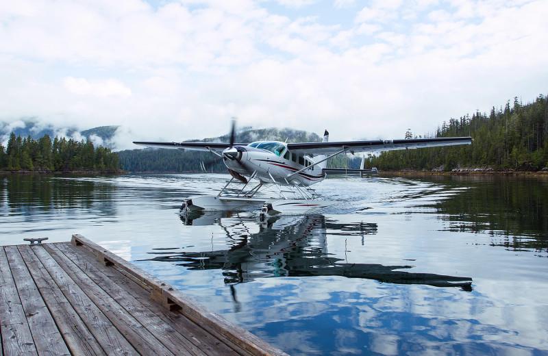 Plane at Nootka Wilderness Lodge.