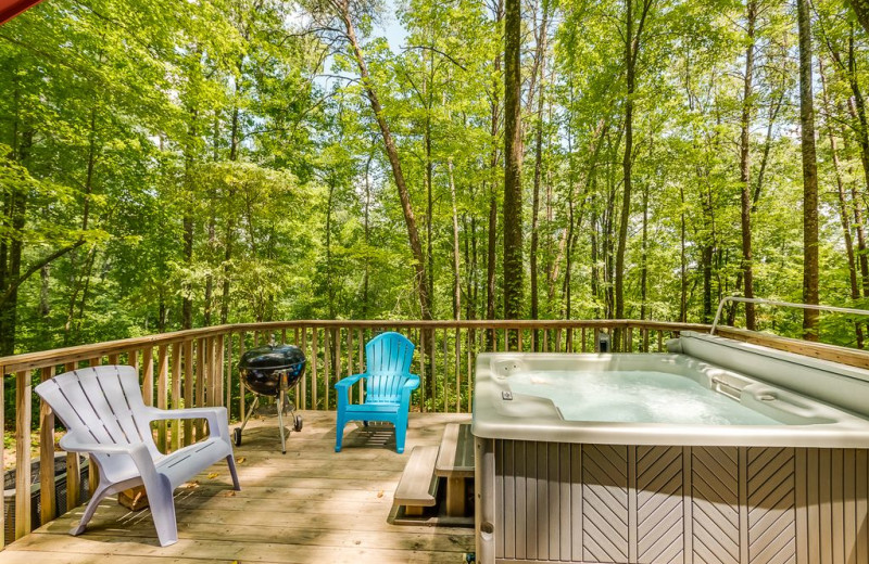 Rental hot tub at Chattanooga Vacation Rentals.