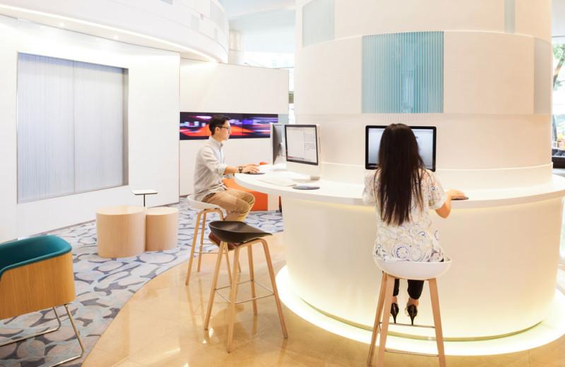 Computers at Novotel Century Hong Kong.