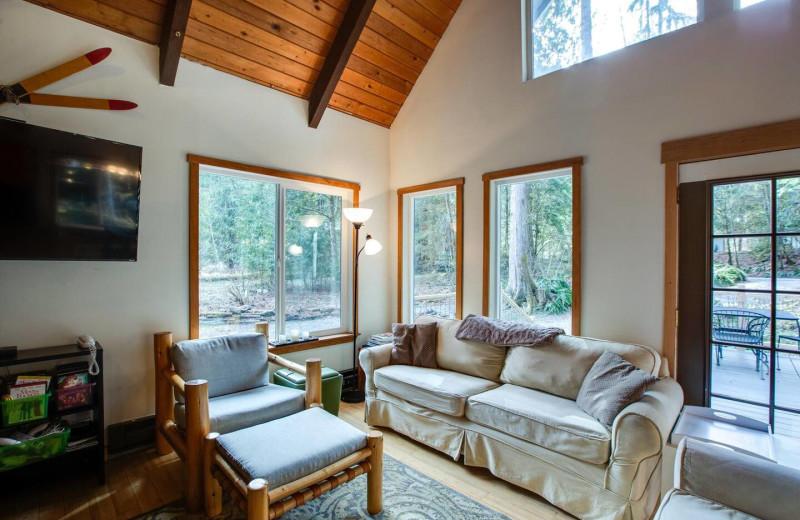 Rental living room at Mt. Baker Lodging.