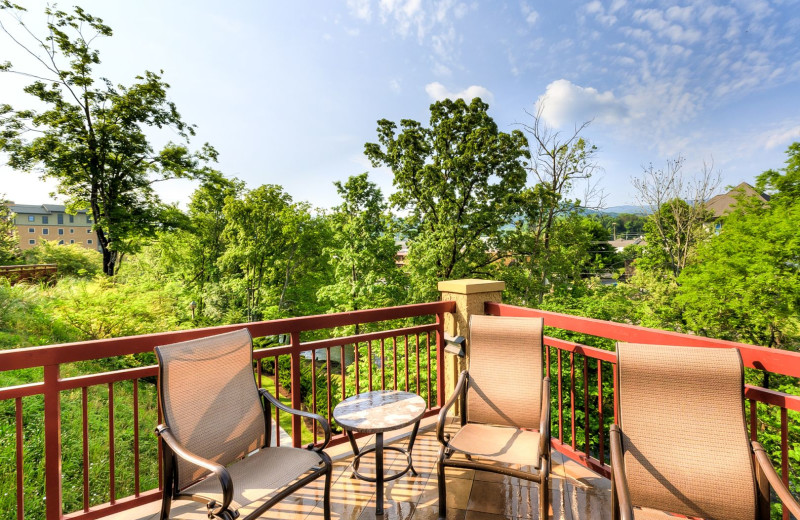 Guest balcony at RiverStone Resort & Spa.