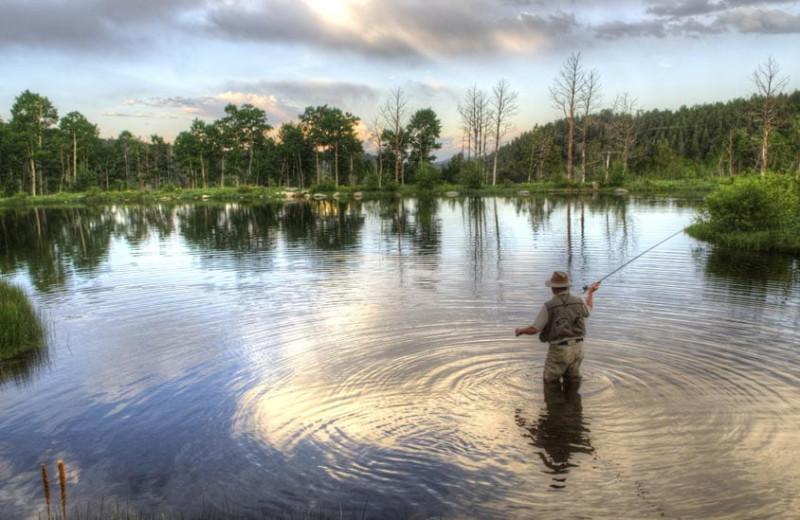 Fishing at Grand Timber Lodge.