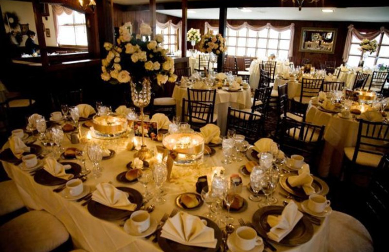 Wedding decor at Stroudsmoor Country Inn.