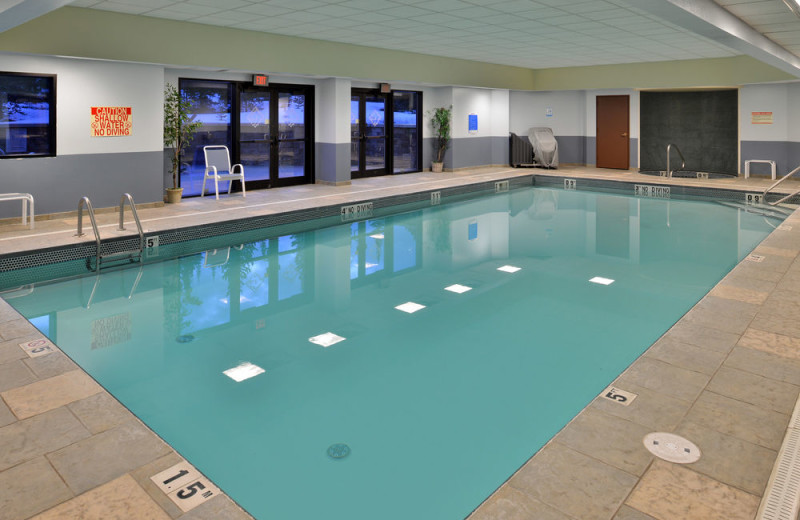 Indoor pool at The Lodge at Big Sky.