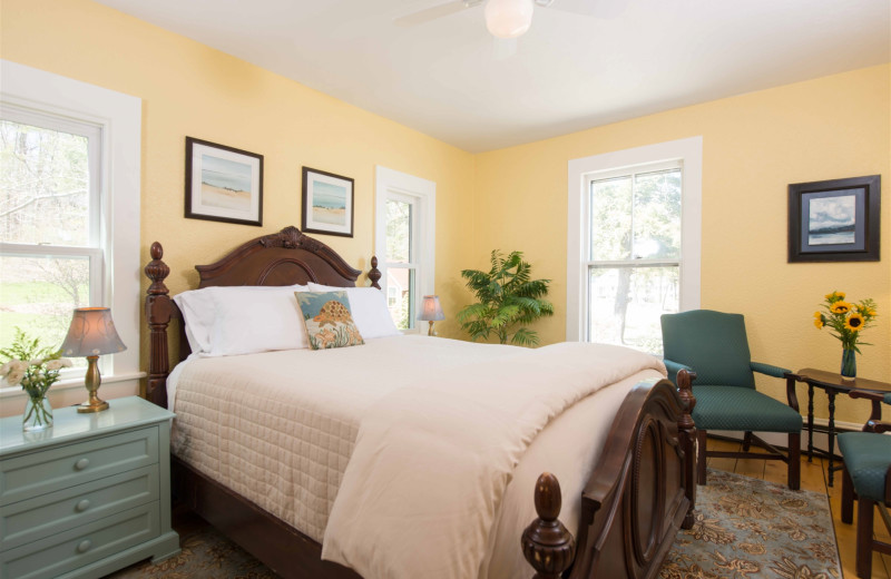 Guest room at The Lake House at Ferry Point B&B.