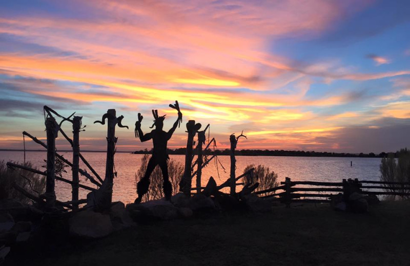 Sunset at Big Chief RV Resort.