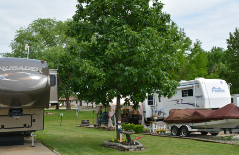 RV camp at Mark Twain Landing.