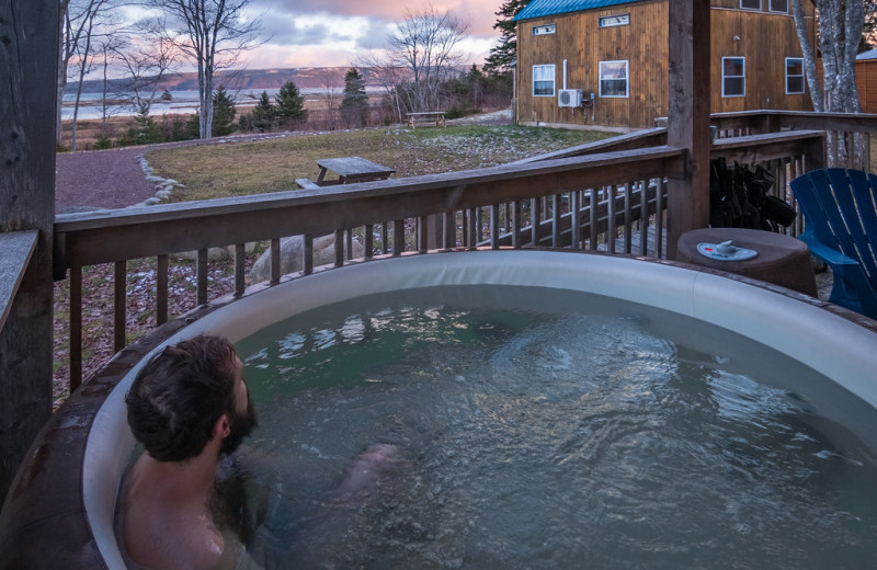 Hot tub at Cabot Shores Wilderness Resort.