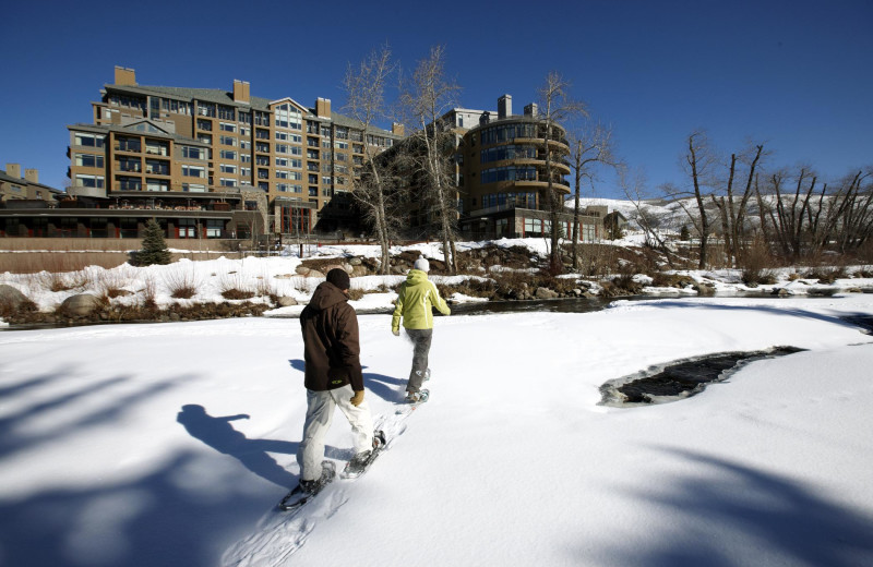 Snowshoeing at The Westin Riverfront Resort & Spa.