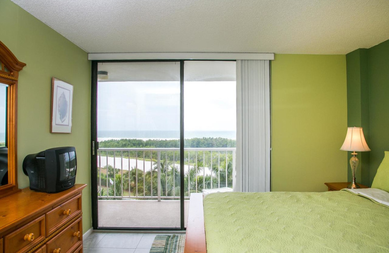 Rental bedroom at Harborview Rentals.