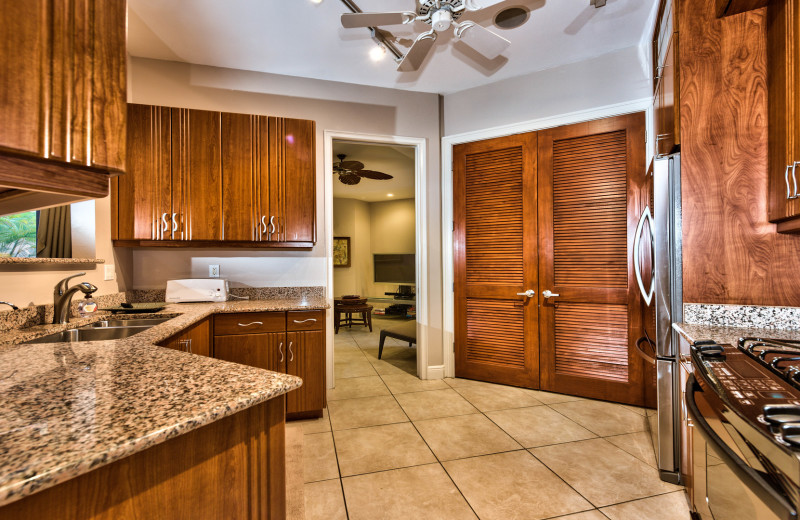 Rental kitchen at Naples Florida Vacation Homes.