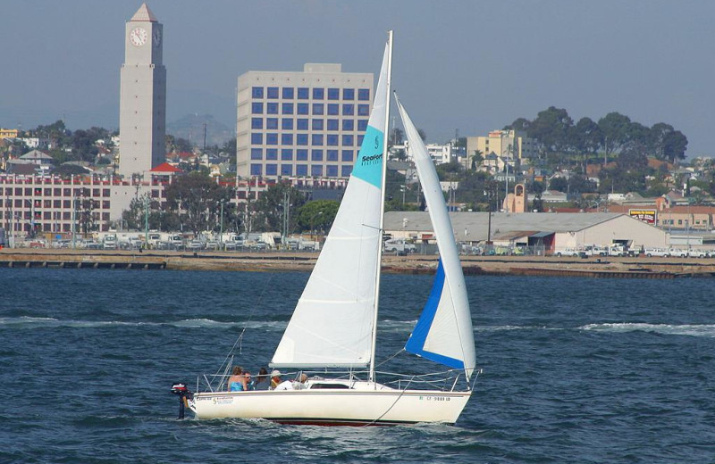 Sail boating at Bay Club Hotel & Marina.