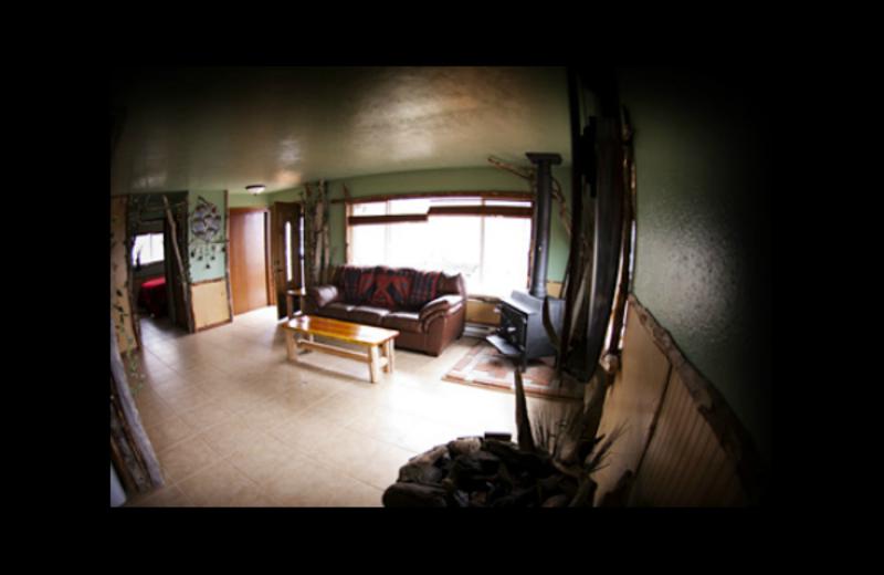 Cabin living room at Quileute Oceanside Resort.