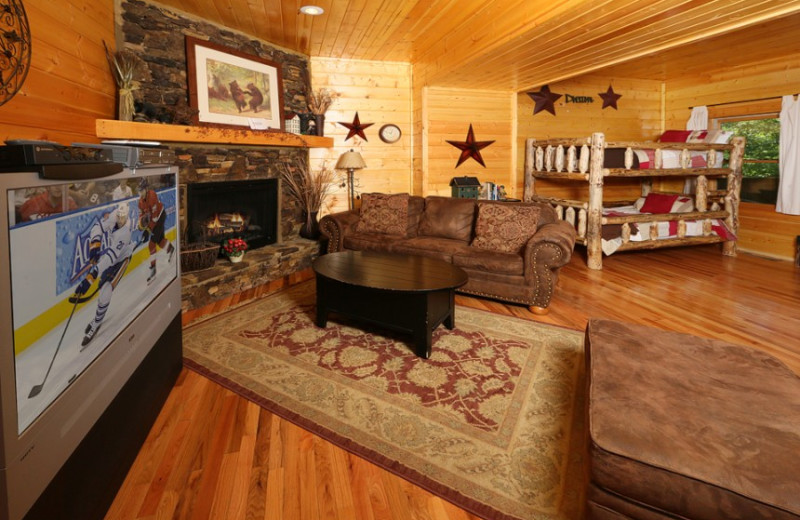 Cabin den with bunk beds