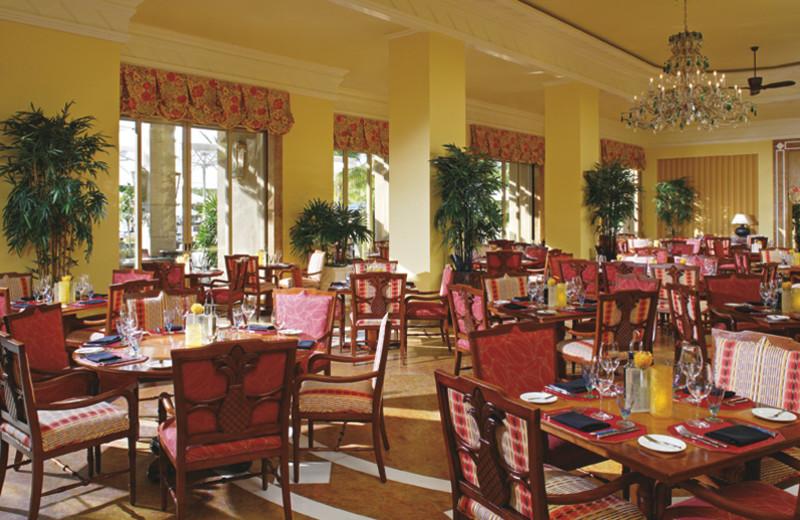 Dining at Ritz-Carlton Grand Cayman.