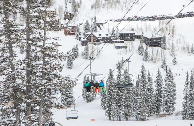 Ski lift at Alta Lodge.