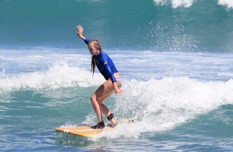 Surfing at Cabo Surf Hotel & Spa.