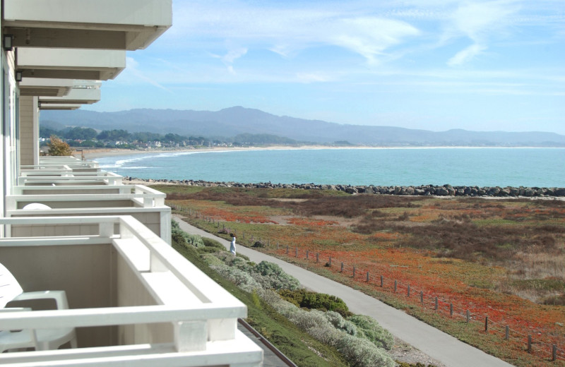 Balcony view at Beach House Half Moon Bay.