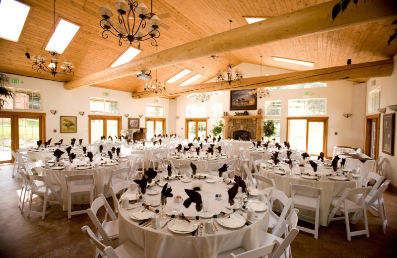 Wedding reception at Meadow Creek Lodge and Event Center.