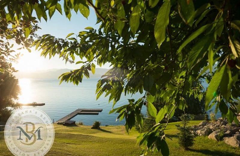 Lake view at Montana's Best Vacation Rentals LLC.