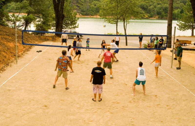Volleyball court at Tsasdi Resort.