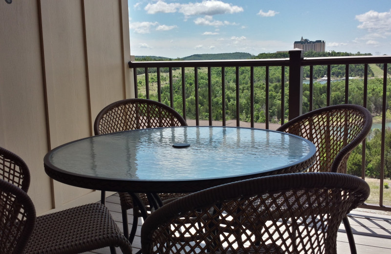 Condo balcony at Thousand Hills Golf Resort.