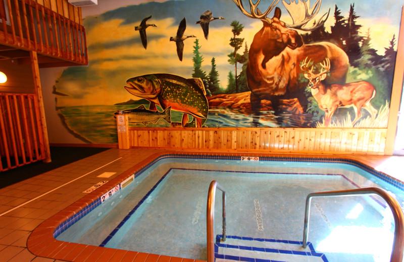 Hot tub at Superior Shores Resort.