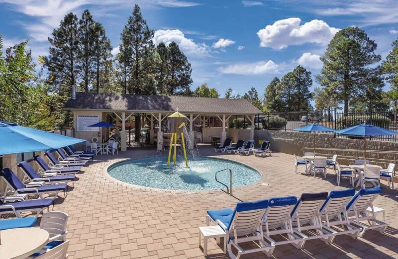 Outdoor pool at Wyndham Flagstaff Resort.