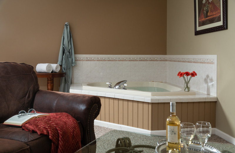 Guest hot tub at The French Manor Inn and Spa.