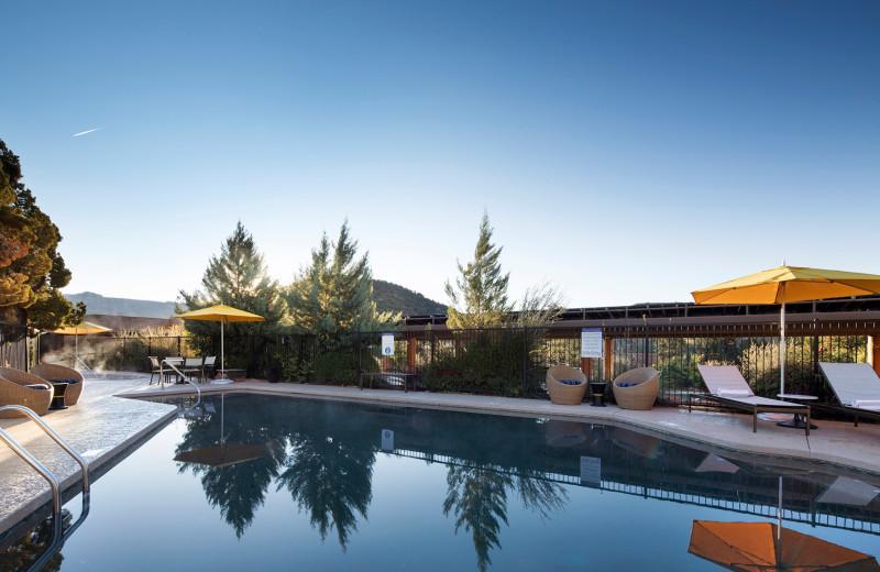 Outdoor pool at Sky Rock Inn of Sedona.